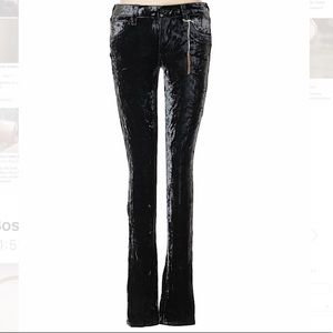 Adriano Goldschmied (AG) Velour Pants size 29 NWT